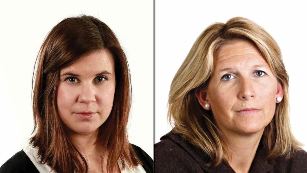 Helene Skjeggestad (t.v.) og Eirin Hurum.