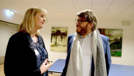MBL-direktør Randi S. Øgrey og BA-sjef Sigvald Sveinbjørnsson på forrige ukes opplagspresentasjon.