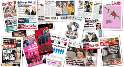 Slik markeres kvinnedagen i norske medier - se noen av de mange forsidene og sakene her