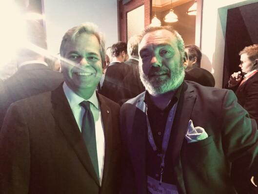 Fredrik Syversen og Austins borgermester Steve Adler.