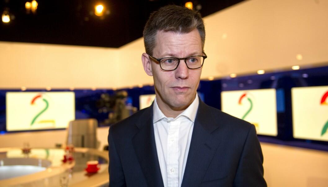 Steffen Kragh, konsernsjef i Egmont. Her er Kragh avbildet da konsernet ble eneeier i TV 2 i 2012.