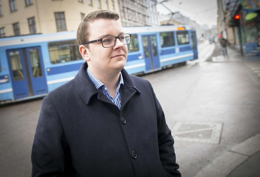 Espen Teigen (25), arbeidsledig i hovedstaden etter å ha blitt skjøvet ut av regjeringen.
