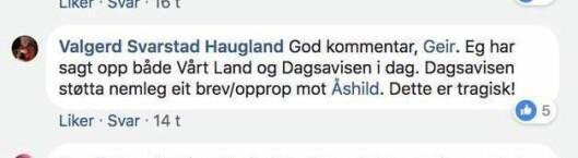Den tidligere KrF-lederen på Facebook.