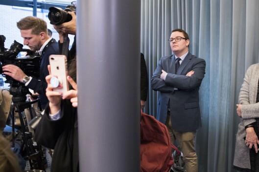 Teigen under pressekonferansen da Listhaug trakk seg.