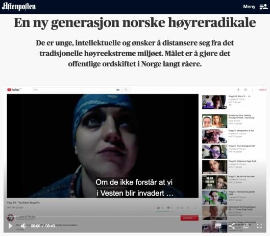 Fra nettsak med videoreportasje på Aftenposten.no.
