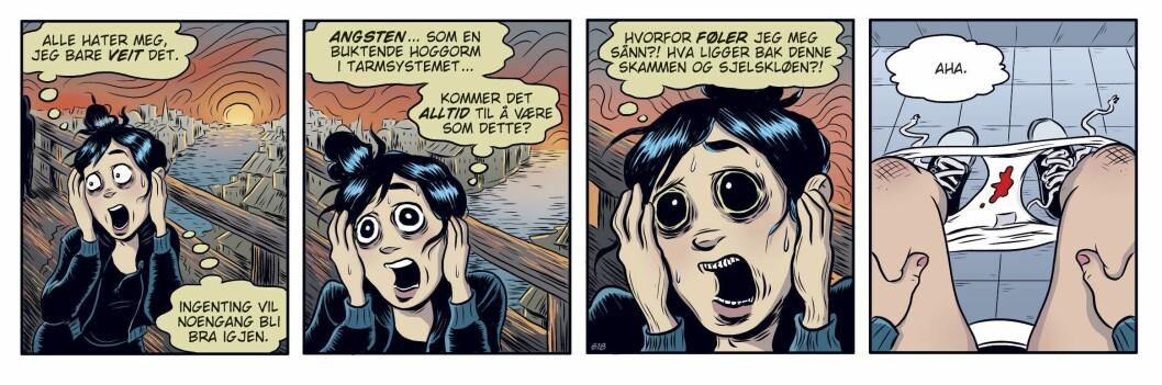 Svenske Lina Neidenstam har vunnet innpass med «Zelda» i Dagbladet, Bergens Tidende, Stavanger Aftenblad, Sydsvenskan, Information, Pondus, og et tyvetalls norske aviser. Her tar hun opp det urkvinnelige temaet mensen.