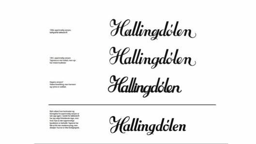I forbindelse med selve redesignen bestemte avisa seg for å modernisere avishodet. Dette er Geir Gosens forslag til nytt avishode (nr. 4). – Ikkje arkivert, men burde sjølvsagt vore det for å få fram bakgrunnen og tanken med eit nytt avishovud, kommenterer Tormodsgard.
