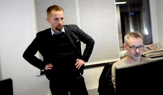 Nordlys-redaktør Helge Nitteberg (t.v.).