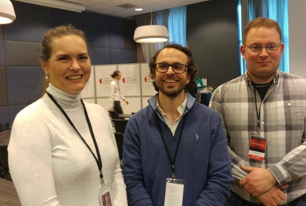 Nye folk i styret: Leder Aslak Skretting (i midten), Hilde Apneseth til venstre og Stian Elverum til høyre