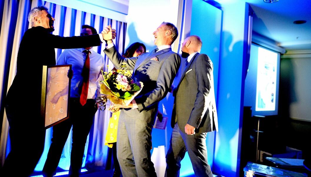 Lokalavisen Lister ved redaktør Sveinung W. Jensen & co tok i mot den gjeve prisen Årets lokalavis i Bodø lørdag kveld.