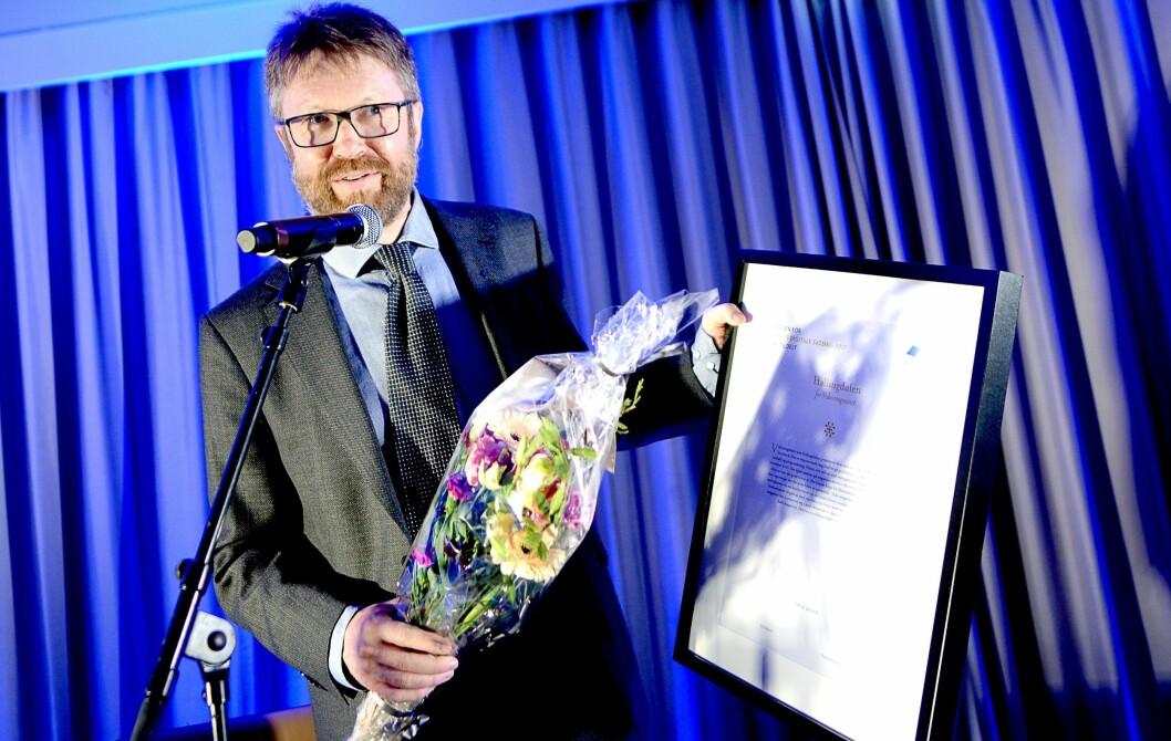 Ansvarlig redaktør Embrik Luksengard i Hallingdølen.