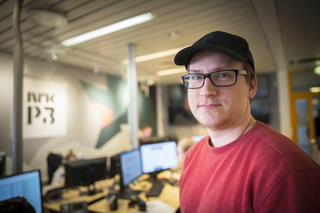 Fungerende redaksjonssjef Ole Marius Trøen i NRK P3nyheter - her fra sine kontorer på Tyholt i Trondheim.