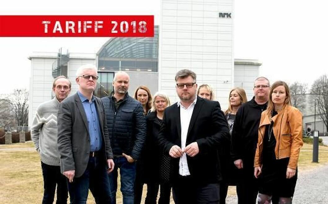 Forhandlingsutvalget ved årets lønnsoppgjør i NRK.