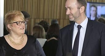 - Jeg vet at hvis Giske vil noe, så får han det til, sier medieminister Trine Skei Grande. I dag møter hun Aps nye mediepolitiske talsmann