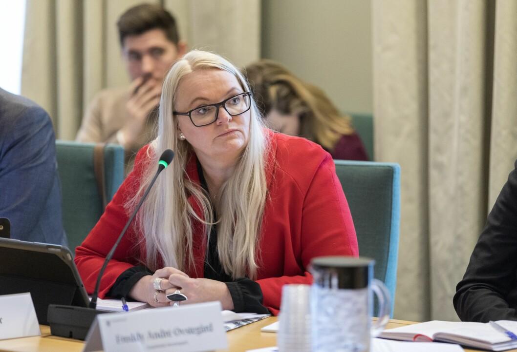 Senterpartiets mediepolitiske talsperson Åslaug Sem-Jacobsen er bekymret for omleggingen av distriktssendingene til NRK. Bildet er fra 2018.