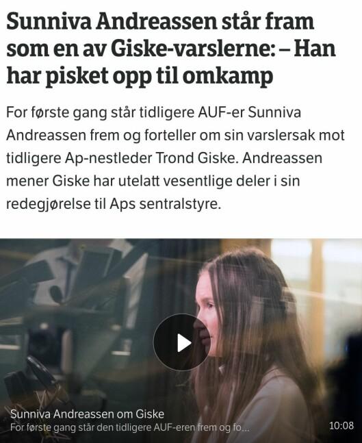 Fra NRK.no og Dagsnytt Atten i februar.