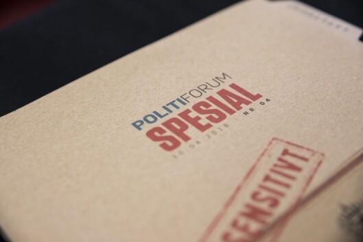 Politiforums utgave som kom ut 3. mai 2018.