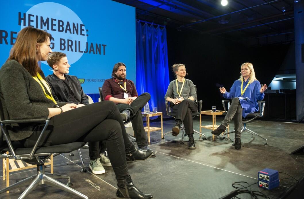 Sesjonen om Heimebane under Nordiske mediedager i Bergen.