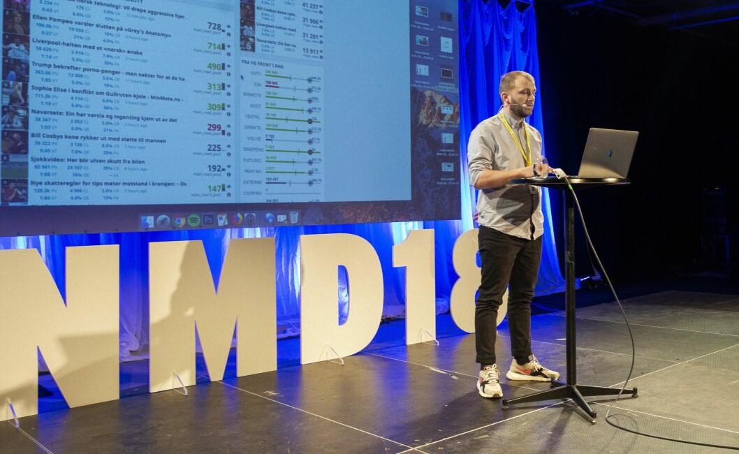 Frontsjef i VG, Eivind Haugen, på Nordiske Mediedager.