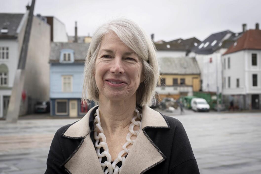 Rebecca Corbett, redaktør i The New York Times under Nordiske Mediedager i Bergen.