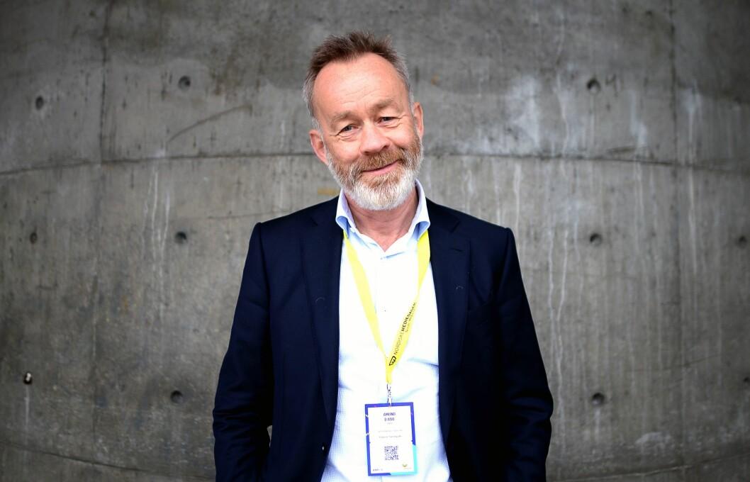 Sjefredaktør Amund Djuve i Dagens Næringsliv. Arkivfoto.