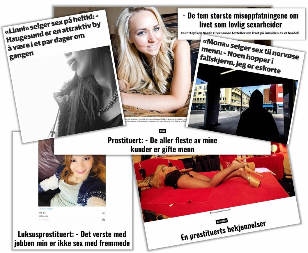 BARE MORO: Nettavisen har mange intervjuer med prostituerte som trives i jobben.