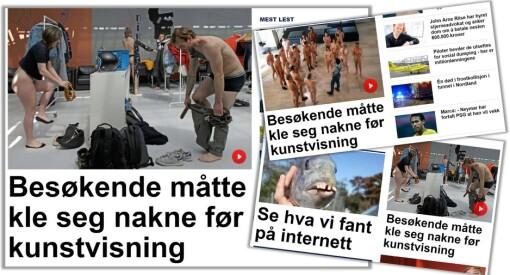Hei, Gunnar! Hvorfor har du tre henvisninger til samme nakensak på forsiden?