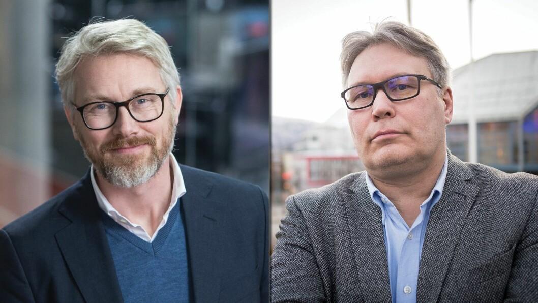 TV 2-sjef Olav Sandnes og politisk redaktør Skjalg Fjellheim i Nordlys.