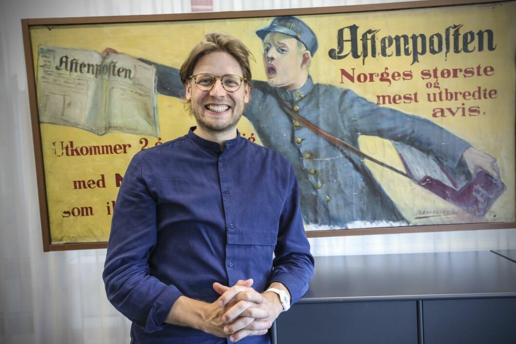 Constantin Eberle blir ny kreativ leder i Aftenposten.
