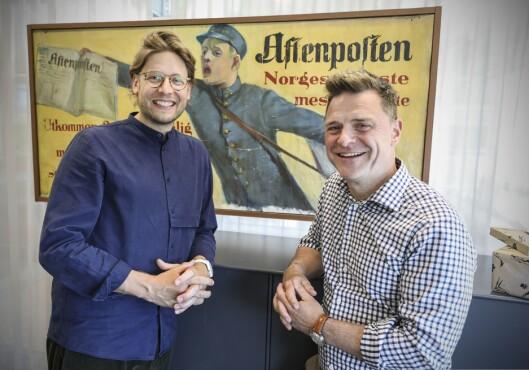 Aftenposten-sjef Espen Egil Hansen er glad for å hente Constantin Eberle til Akersgata.