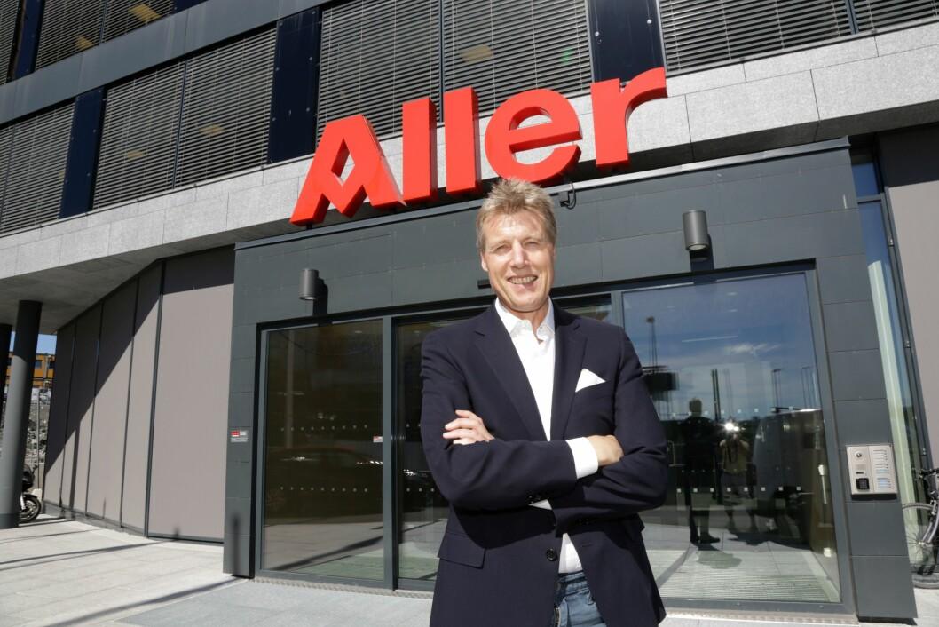 Dag Sørsdahl er konsernsjefi  Aller Media. Nå inngår han en avtale med Amedia om å bruke deres innloggingssystem, aID. Foto: Aller Media