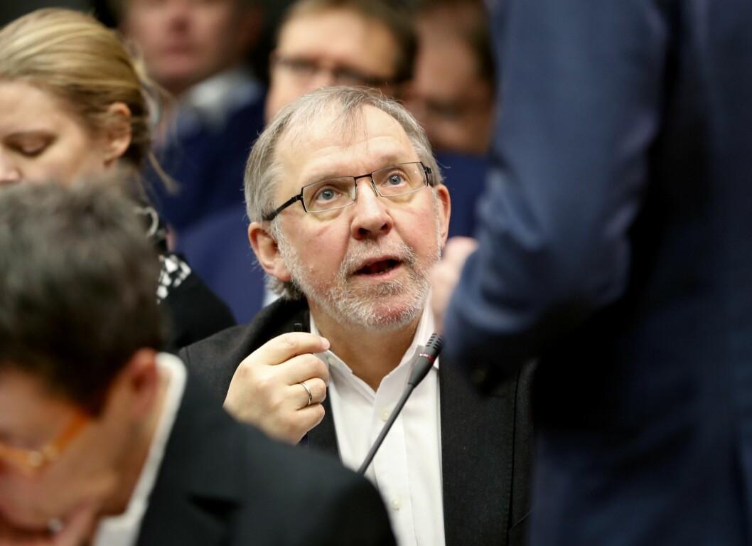 Harald Stanghelle, her under presentasjonen av Mediemangfoldutvalgets rapport.