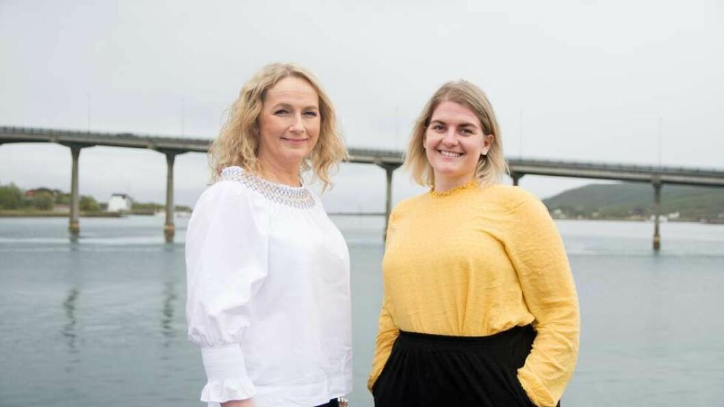 Stina Helene Gustavsen (til venstre) og Karianne Munch-Ellingsen får hovedansvaret for markedsarbeidet i de tre Polaris-selskapene i Vesterålen.