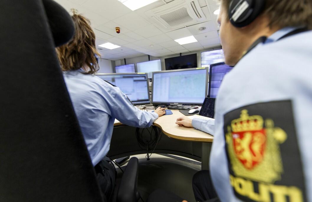 Politiet i arbeid. Operasjonssentralen til politiet.
