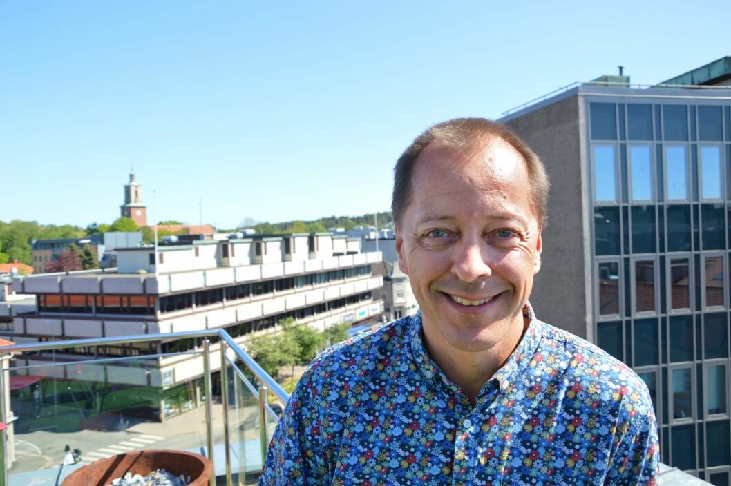 Sjefredaktør René Svendsen i Fredriksstad Blad. Bildet er tatt ved en tidligere anledning.