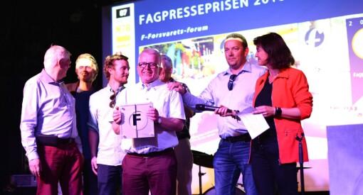 Forsvarets forum er årets fagblad - fikk Fagpresseprisen 2018! Redaktørpris til Tove Lie. Sjekk alle vinnerne her
