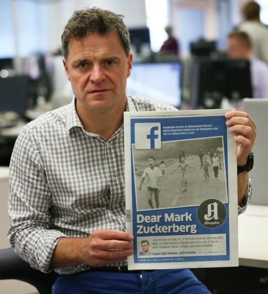 DEAR MARK: Her originalbildet - da Espen Egil Hansen skrev brev høsten 2016 til Mark Zuckerberg.