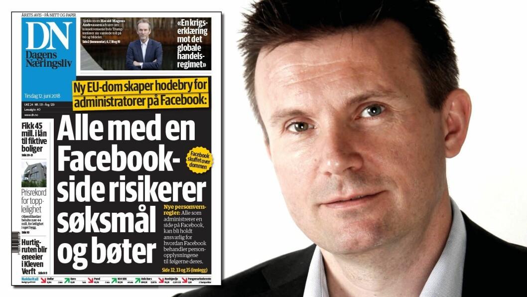 Ståle Lindblad reagerer på dagens DN-forside.