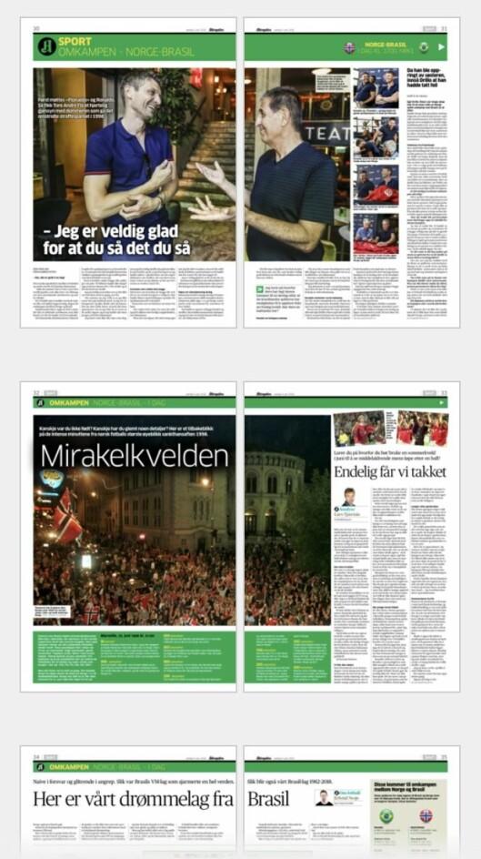 Aftenposten lørdag 9. juni.