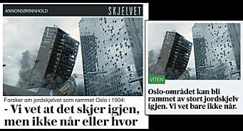 I dag har VG og Aftenposten disse sakene på hver sin forside. Den ene er reklame og den andre er journalistikk