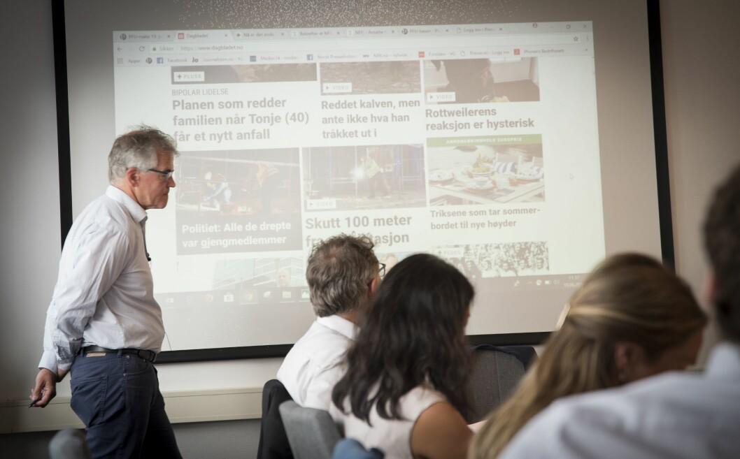 PFU behandlet en klage på en annonse (i bakgrunn) publisert hos Dagbladet