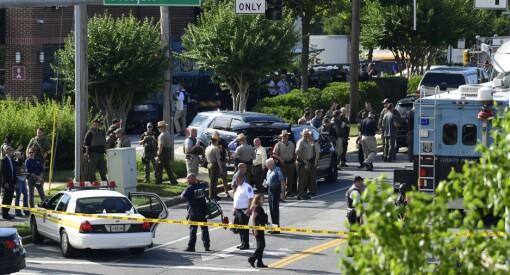 Fire journalister og en selger ble skutt og drept i lokalene til avisen Capital Gazette i Annapolis i USA