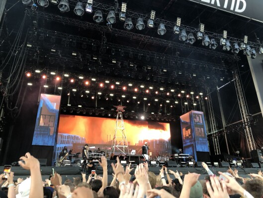 Fra Eminem-konserten. Innsendt publikumsbilde.