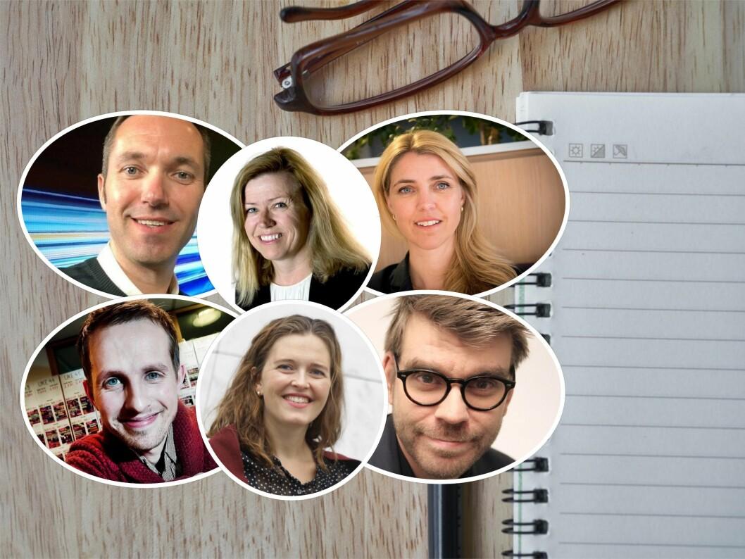 Seks redaktører forteller hva de ønsker seg av sommervikarene: Tora Bakke Håndlykken (VG), Helge Nitteberg (Nordlys), Marius Tetlie (NRK), Tone Strøm-Gundersen (Aftenposten), Sigvald Sveinbjørnsson (BA) og Alexandra Beverfjord (DB).
