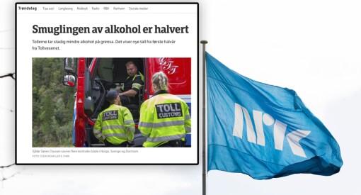 Nei, NRK Trøndelag. Vi vet ikke om smuglingen av alkohol er halvert