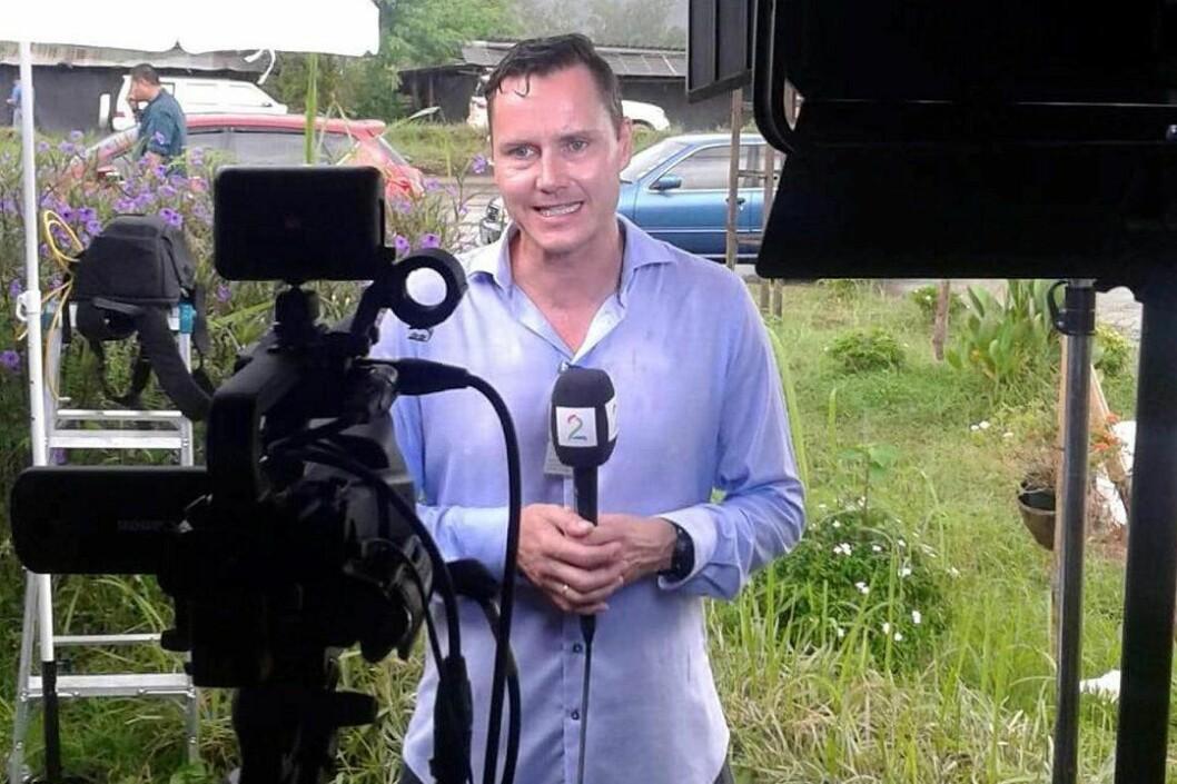 Reporter Kjetil Iden i TV 2 rapporterer fra Thailand.