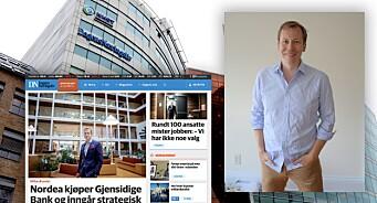 Straks ruller DN ut en splitter ny nettavis: Morten Bertelsen lover nytt design og mye spennende under panseret