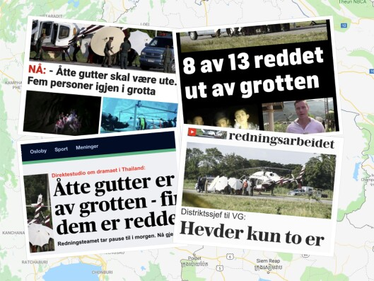 Faksimile fra medienes dekning mandag.