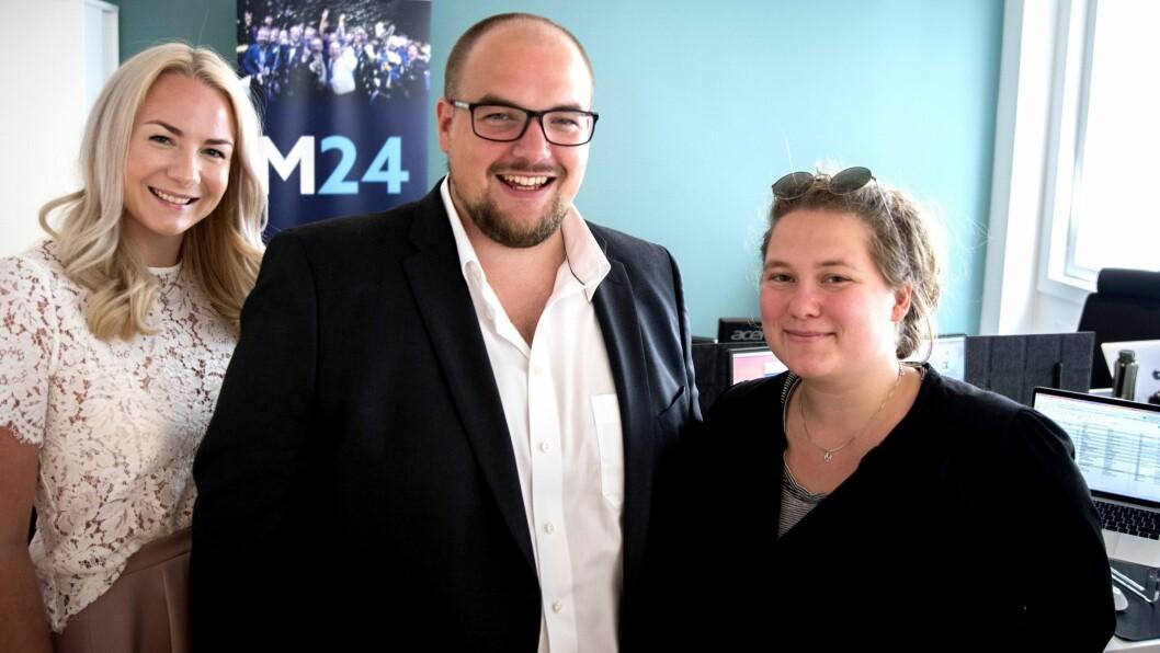 MEDIER24: Julie Hansson Tangen, Erik Waatland, Eira Lie Jor.