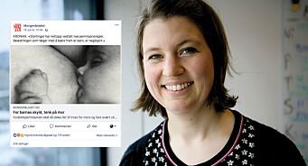 Facebook nekter Morgenbladet å sponse opp kronikk med ammebilde. Kan være støtende
